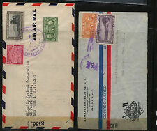 Panama    2  censor  covers  to   US  3's  8225  & 8356             MS0303