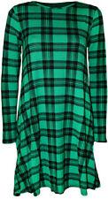 Vestiti da donna a manica lunga tunica verde