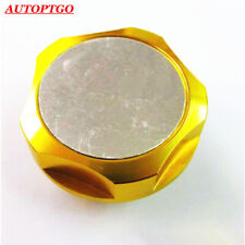 GOLD CAR RACING ENGINE OIL FILLER CAP FUEL TANK COVER FOR NISSAN NISMO MOST CARS
