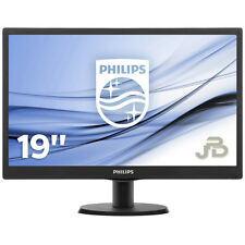 "MONITOR PC 19"" LED SCHERMO DESKTOP PHILIPS 18,5"" POLLICI VGA WIDE ATTACCO VESA"