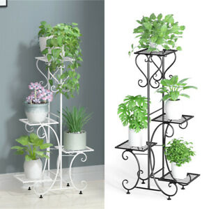 Potted Plant Stand Tall Flower Pot Display Shelf for Balcony Living Room Garden