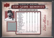 TODD HELTON 2008 UD A PIECE OF HISTORY BOX SCORE GAME JERSEY ROCKIES SP $12