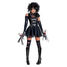 Official Miss Edward Scissorhands Fancy Dress Costume & Wig Halloween 90s Movie Small 8 - 10