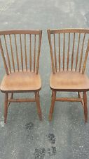 Pair of (Two 2) Vintage Stickley Dining Room or Card Table Chairs Nice Condition