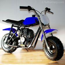 Gas powered mini bike - dirt bike for kids - no mixing oil - free shipping blue