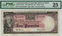First Prefix £10 WA/28 R63F ND 1960 - Coombs - Wilson Graded by PMG 25 Very Fine