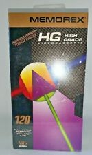 High Grade Memorex 120 HG Recordable Blank video Cassette VHS Video Tapes Sealed