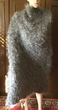 Shawl of Orenburg Woman, gray color, size 124 -108 cm. natural fluff  Scialle