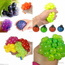 New 1Pc Anti Stress Face Reliever Grape Ball Autism Mood Squeeze Relief ADHD Toy