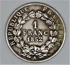 1 FRANC 1852 A NAPOLÉON III en TTB+