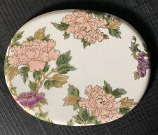 Fitz & Floyd White Cloisonne Palace Peony Trivet Hot Plate Japan