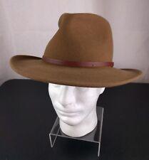 VTG Pendleton 100% Virgin Wool Hat Small Brown Cowboy Cap Western Outback Bull