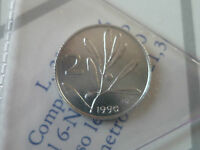 ITALIA - 1 LIRA ITALMA - 2 LIRE ULIVO DAL 1968 AL 2001 FDC
