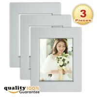 3 Pack 11x14 White Picture Mats with White Core Bevel Cut for 8x10 Pictures
