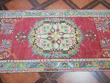 Vintage Anatolian handmade Turkish OUSHAK RUNNERS RUG size 6.5x3 feet