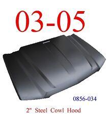 "03 05 Cowl Hood 2"" Chevy Truck Steel Bolt On W/Latch KeyPart 2nd Design 0856-034"
