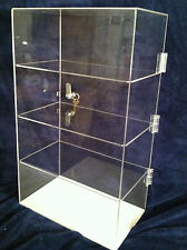 "Acrylic CounterTop Display Case 12""x9""x 20.5"" Locking Security Show Case/Shelves"