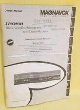 Magnavox Digital Video Disc Recorder Manual Zv450Mw8 Operating Instructions