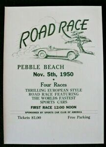 Pebble Beach 1950 Road Race 9x13 Poster Print SCCA Devlin