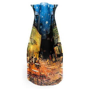 New Modgy Plastic Expandable Art Decor Flower Vase Van Gogh Cafe Terrace @ Night