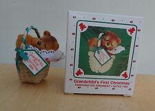 Hallmark Ornament 1986 GRANDCHILD'S FIRST CHRISTMAS MIB Nice!!