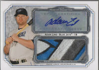 2012 Topps Museum Collection Adam Lind Auto Jumbo Logo Jersey Patch 10/10