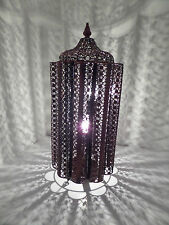 Stunning Moroccan Bronze Metal Cut Work Unique Design Table Lamp  Brand New