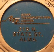 1995 Alma, MI Transportation Center Transit Bus Token Michigan