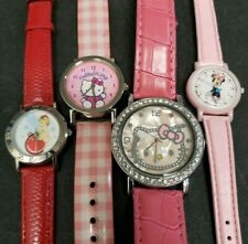 Watch Lot Lady Hello Kitty Tinker Bell Minnie Mouse Sanrio Disney New Batteries