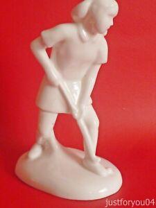 Royal Doulton - Images Figurine - Hockey Player HN 4519 - 2003 - White Gloss.