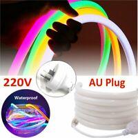 Modern 220V SMD 2835 Flex LED Strip Neon Rope Light Silicone Outdoor Sign Decor