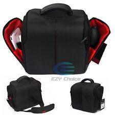 AU POST SLR DSLR Lens Camera Bag Carry Case For Nikon Canon Sony + Rain Cover