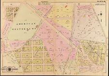 1907, G.W. BAIST, WASHINGTON D.C., AMERICAN UNIVERSITY, COPY PLAT ATLAS MAP
