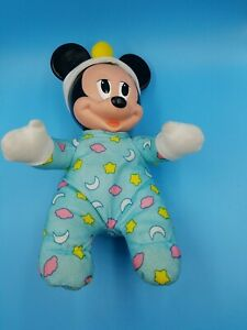 VIntage Hug and Glow Glo Baby Mickey Mouse Mattel Light Up Doll Plush TESTED