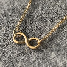 USA Fast Ship Gold INFINITY Necklace 'Infinite Love' Dainty Minimalist Jewelry