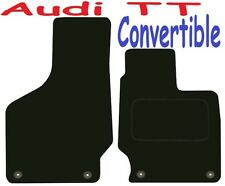 Tailored Deluxe Quality Car Mats Audi TT 2006-2014 ** Black ** Convertible Coupe