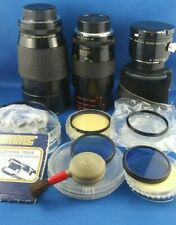 Vivitar Series 1 90mm 1:2.5 Macro and 200mlm 1:3.0 Minolta M/SR mount Lens Lot