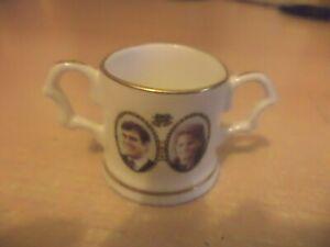 forest bone CHINA loving cup mug MINI MINIATURE OLD VINTAGE prince andrew fergie