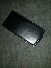 Iphone 5s black leather flip case with card holder