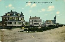 View Of The Homes On Washington Avenue, Rockaway Park, Queens, New York NYC 1912