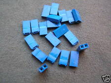"""Miniature Jumper Link Blue 2.54mm Pitch (0.1"""") Closed Style 20 pieces OM0968"""
