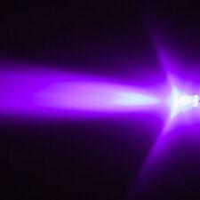 10 LEDs 5mm UV Violett 3000mcd Schwarzlicht LED + Zub. 6V 9V 12V 14V 24V Diode