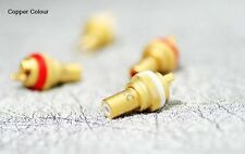 2 x Gold plated / Red copper RCA socket connector CC ~ Copper Colour ~  Hi-End