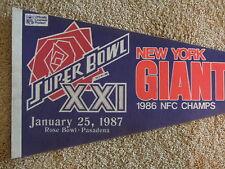 1986 New York Giants Football NFC Champions Full Size Pennant