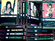 GROS LOT SAS  24  livres   SAS  livres policiers DE VILLIERS SAS  MALKO