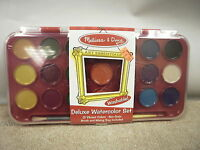 MELISSA & DOUG 4120 DELUXE WATERCOLOR SET ART ESSENTIALS CRAFTS HOBBIES NEW