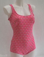 FANTASTIC 60's VINTAGE RIDDLER THEMED LADIES SWIMMING COSTUME SWIMSUIT UK12 - 14