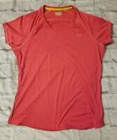 Women's UNDER ARMOUR Pink Semi Fitted Heat Gear XL Crewneck Active Shirt Workout