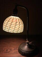 Arts Crafts Art Glass Damascene Vintage Bradley Hubbard Handel Era Desk Lamp NR