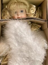 """Ashton-Drake Galleries Porcelain Angel Doll """"Blessed Are The Pure of Heart"""" New!"""